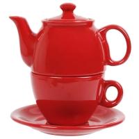 Чайный дуэт 2 предмета красный
