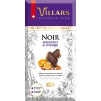 Швейцарский тёмный шоколад Villars с цельным миндалём и цукатами из апельсиновых корочек