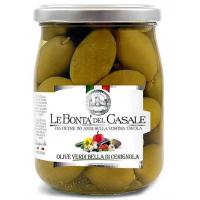 Оливки Белла ди Чериньола 530 грамм Lе Bonta' del Casale