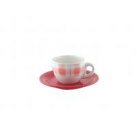 Чайная пара 170 мл декор красный