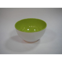 Салатник 13 см двухцветный зелёный