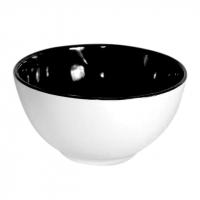 Салатник 13 см двухцветный чёрный