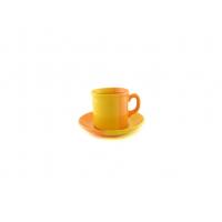 Чайная пара 220 мл желто-оранжевая