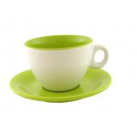 Чайная пара двухцветная зелёная 220 мл