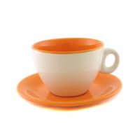 Чайная пара двухцветная оранжевая 220 мл
