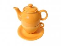 Чайный дуэт 2 предмета оранжевый