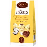 Шоколадные конфеты Cemoi  «PEARLS» с кокосово-ананасовой начинкой