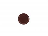 Тарелка десертная 19 см коричневая матовая