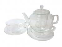 Чайник 400 мл. + 2 чашки с блюдцем