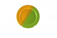 Тарелка подстановочная 23 см зелёно-жёлтая