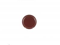 Тарелка подстановочная 23 см коричневая матовая