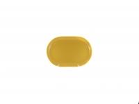 Блюдо овальное 30 см жёлтое