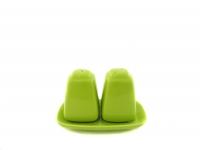 Набор для соли и перца зелёный