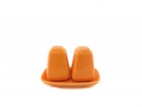 Набор для соли и перца оранжевый