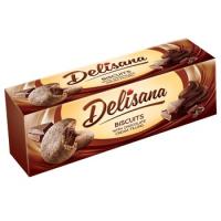 Delisana печенье песочное с шоколадным кремом