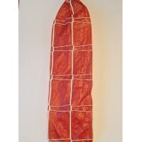 Фиброузные кармашки плетение Двойная трапеция, амбер, к. 60
