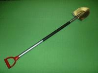 Лопата титановая штыковая штампованная, с прямым деревянным черенком